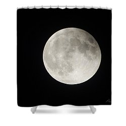 Full Planet Moon Shower Curtain
