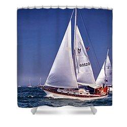 Full Sail Ahead Shower Curtain