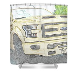 Shower Curtain featuring the photograph Full Sized Toy Truck by John Schneider
