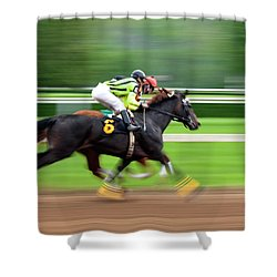 Full Stride Shower Curtain by Keith Allen