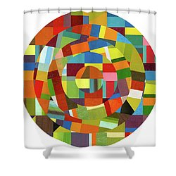 Shower Curtain featuring the painting Full Tilt by Michelle Calkins