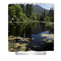 Shower Curtain featuring the photograph Fulmor Lake by Ivete Basso Photography