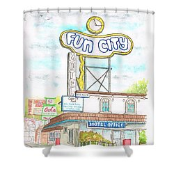 Fun City Motel, Las Vegas, Nevada Shower Curtain