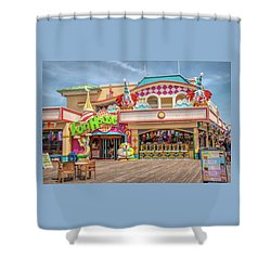 Shower Curtain featuring the photograph Fun House On The Point Pleasant Boardwalk by Kristia Adams