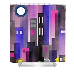 Fun In The City Shower Curtain