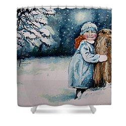 Fun In The Snow Shower Curtain by Geni Gorani