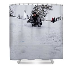 Shower Curtain featuring the photograph Fun On Snow-3 by Okan YILMAZ