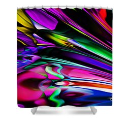 Fun With Colour Shower Curtain by Elaine Hunter