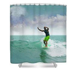 Funday Sunday Shower Curtain by William Love