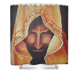 Fundraise Series 3 Praying Jew Shower Curtain by Kerstin Berthold