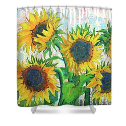 Funflowers Shower Curtain