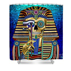 Funky Bone Pharaoh Shower Curtain