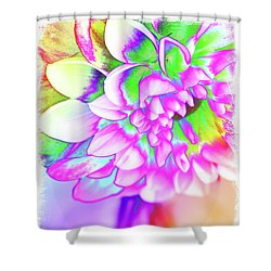 Funky Dahlia Shower Curtain