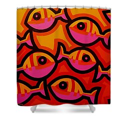 Funky Fish Iv Shower Curtain