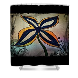 Funky Flower Shower Curtain