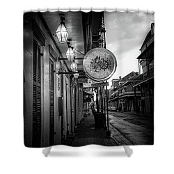 Funky Pirate In Black And White Shower Curtain
