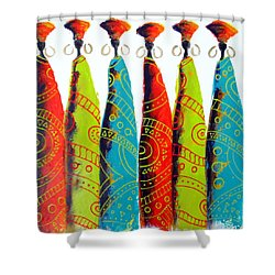 Funky Zulus Shower Curtain