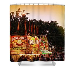 Shower Curtain featuring the photograph Funnel Cakes by Cindy Garber Iverson
