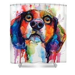Funny Beagle Dog Art Shower Curtain