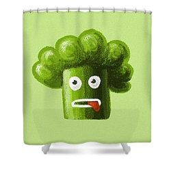 Funny Broccoli Shower Curtain
