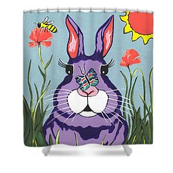 Funny Bunny - Happy Easter Shower Curtain