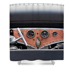 Shower Curtain featuring the photograph Funny Car Dash by Chris Dutton