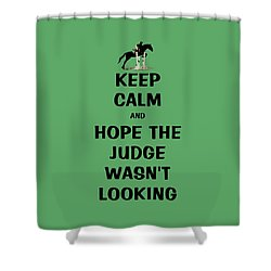 Funny Keep Calm Horse Shower Curtain by Patricia Barmatz