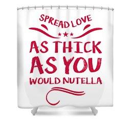 Funny Spread Love Shower Curtain