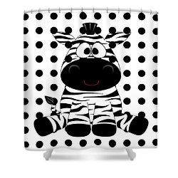 Funny Zebra Shower Curtain