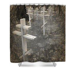 Funter Bay Markers Shower Curtain