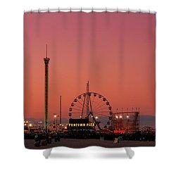 Funtown Pier At Sunset II - Jersey Shore Shower Curtain