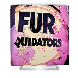 Shower Curtain featuring the photograph Fur - Sign by Colleen Kammerer