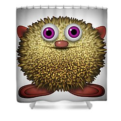 Furry Cameo Shower Curtain
