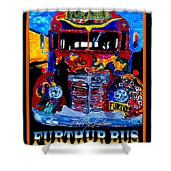 50th Anniversary Further Bus Tour Shower Curtain