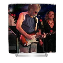 Shower Curtain featuring the photograph Furthur - Bob Weir -grateful Dead Celebrities by Susan Carella