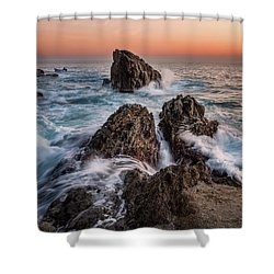 Fury Of The Sea Shower Curtain