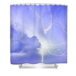 Fury Of The Storm Shower Curtain