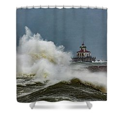 Shower Curtain featuring the photograph Fury On The Lake by Everet Regal