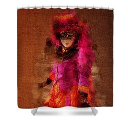 Fuschia Venice Shower Curtain