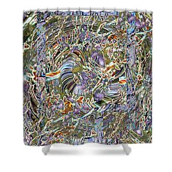 Fused Shower Curtain by Tim Allen