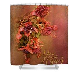 Fushia Bouquet Shower Curtain