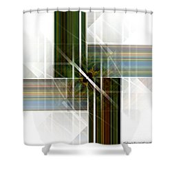 Future  Buildings Shower Curtain by Thibault Toussaint
