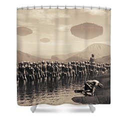 Future Cattle Shower Curtain