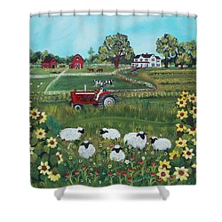 Future Farmer Shower Curtain by Virginia Coyle