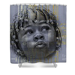 Rite Of Passage Shower Curtain by Moustafa Al Hatter