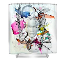Future Of Life By Nico Bielow Shower Curtain