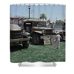 Future Soldier Shower Curtain by DigiArt Diaries by Vicky B Fuller