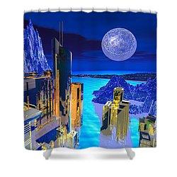 Futuristic City Shower Curtain