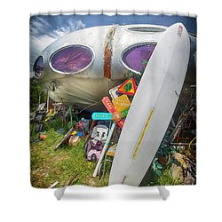 Shower Curtain featuring the photograph Futuro House 2 by Alan Raasch