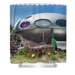 Shower Curtain featuring the photograph Futuro House by Alan Raasch